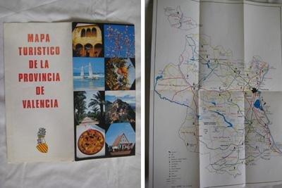 Folleto Publicidad - Advertising Brochure : MAPA TURÍSTICO DE LA PROVINCIA DE VALENCIA.