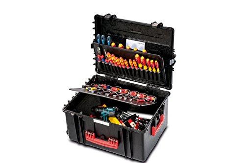 PARAT 6582.500-391 PARAPRO Werkzeugkoffer rollbar mit genähten Separationen, schwarz (Ohne Inhalt)