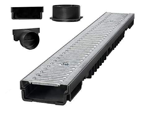 Bielbet Entwässerungsrinne h= 55mm 24,50€/m 1m Set inkl.Endkappen und Anschlussstück DN110