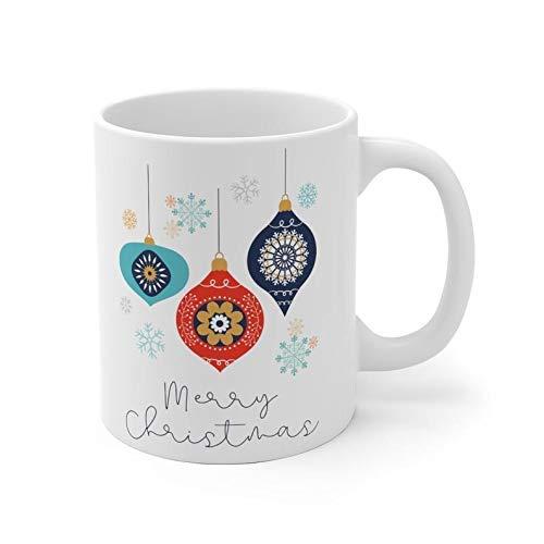 N\A Chocolate Caliente con malvaviscos Mientras Bebe de Esta Hermosa Taza de café navideña