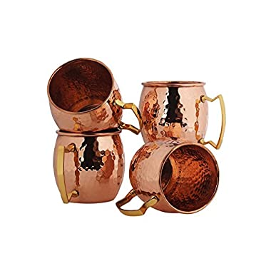 BonBon Luxury Moscow Mule Copper/Nickel Mug Cup 4 pack New (Copper)