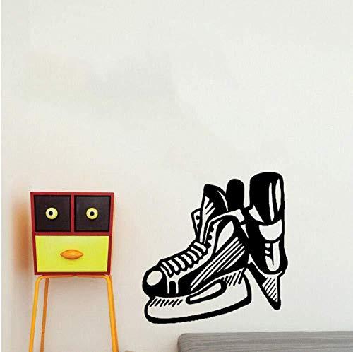 Sticker Decals Wallpaper 50Cm*52.1Cm Coolest Wall Sticker Bedroom Hockey Ice Skates Blade Extreme Sport PVC
