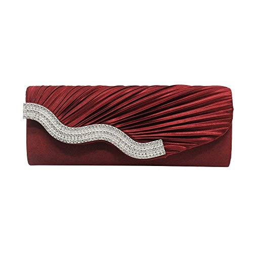 Umhängetasche Damen Clutch Frauen Abendtasche Party Bankett Glitzertasche Für Frauen Mädchen Hochzeit Kupplungen Handtasche Kette Umhängetasche Handtaschen Rot