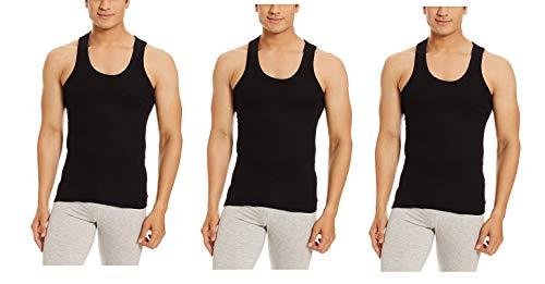 Dollar Bigboss Men's Cotton Vest (Pack of 3) (8902889480503_MDVE-02-BB-DERBY-BLACK_90_Black)