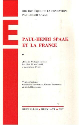 Paul-Henri Spaak et la France