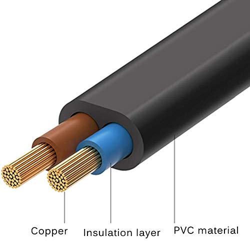 FSKE Câble d'alimentation IEC C7 2M Noir, Euro Fiche vers Figure 8 Cordon d'alimentation pour Samsung Philips LG Sony TV, PS4, PC Monitor, DVD, Imprimante