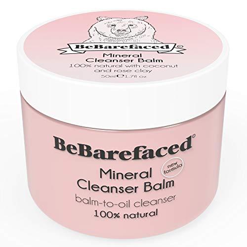 Gesichtsreinigendes Balsam mit mineralreicher Französischer grüner Tonerde von BeBarefaced - Anti-Aging feuchtigkeitsspendender Gesichtsreiniger - Entfernt abgestorbene Hautzellen und bekämpft Falten