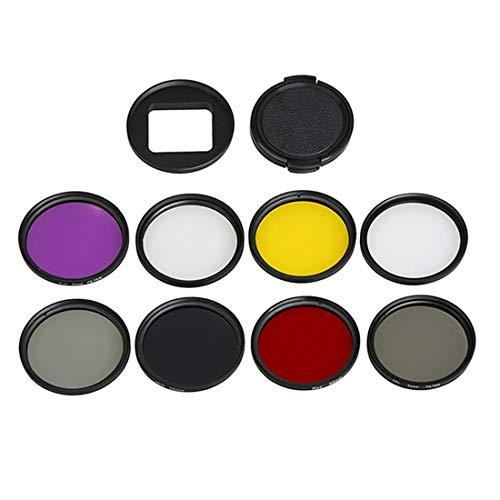 Filtro de lente de cámara Para cámara de acción deportiva GoPro HERO5 Filtro de lente profesional de 52 mm (CPL UV ND8 ND2 Star 8 Rojo Amarillo FLD / Púrpura) y anillo adaptador de carcasa impermeable