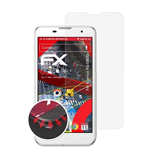atFolix Schutzfolie kompatibel mit Hisense HS-U800 Folie, entspiegelnde & Flexible FX Bildschirmschutzfolie (3X)