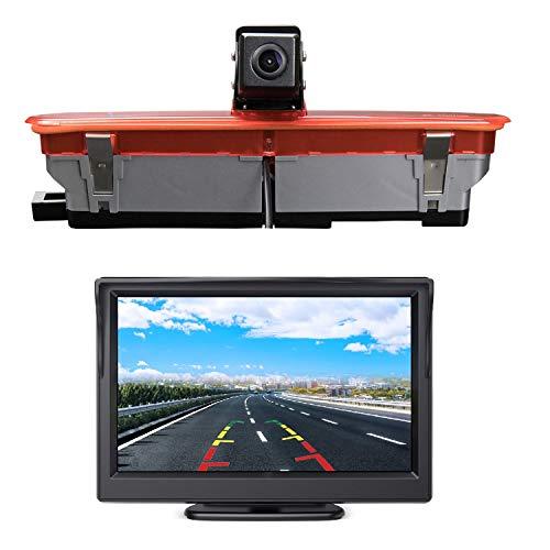 "HD 720p Auto Dritte Dach Top Mount Bremsleuchte Kamera Bremslicht Rückfahrkamera für FIAT Doblo (2010-2019).Opel Combo(2011-2019) +5.0\"" Zoll DVD Monitor TFT Bildschirm LKW KFZ LCD Display"