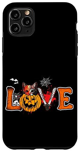 iPhone 11 Pro Max Holiday 365 Halloween Love cat Case