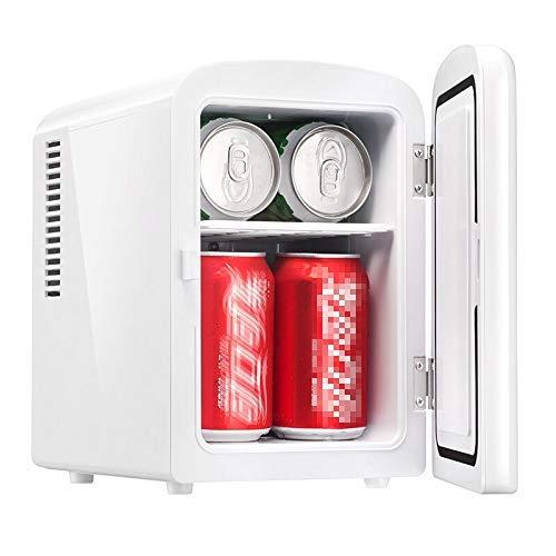 LHQ-HQ Nevera Coche, eléctrico de la más Fresca y más - 4 litros portátiles Nevera con CA y CC Cables de alimentación for el hogar, Coche y Camping - Mango extraíble y Ruedas, Mini refrigerador