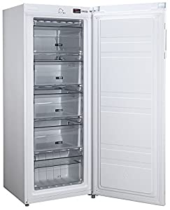 Russell Hobbs Freestanding 142cm Tall Freezer, A+ Rating, 157 Litre Net Capacity, White, Reversible Door, RH55FZ142, Free 2 Year Guarantee
