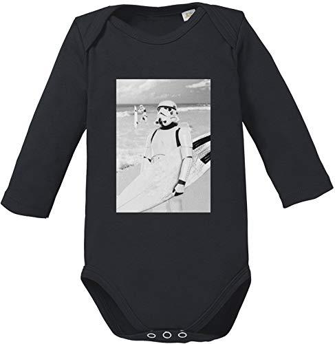 EZYshirt® Stormtrooper Baby Body Langarm Bio Baumwolle