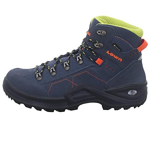 Lowa Jungen Boots Kody III GTX Mid Outdoorschuh Rauhleder blau Gr. 36