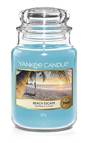 Yankee Candle Duftkerze, Glas, Blau, 623g
