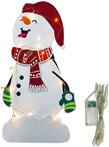 ZWX Candy Christmas Decorations Outdoor-Giant Holiday Decor Signs for Home Lawn Pathway Walkway Candyland Themed Party- Christmas Set (43In Snowman)