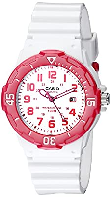 Casio Sports 3-Hand Analog White Dial Women's Watch #LRW200H-4BV by Casio