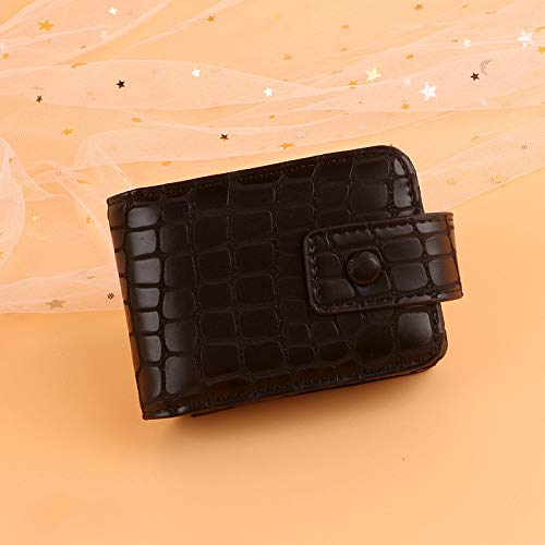 Rode envelop met spiegel, kleine draagbare opbergtas met lippenstift, make-up tas,  Blanco Y Gris (zwart) - 664537136