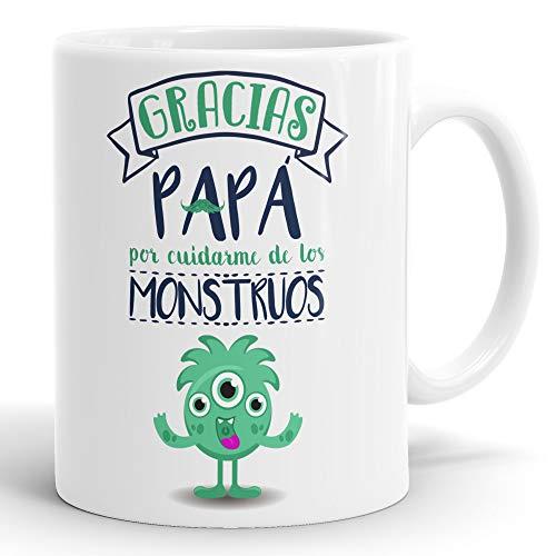 REGALOS ESTRELLA AZUL Taza día del Padre Regalo para Papa, Papa te Quiero, al Mejor papá del Mundo, Regalos Padres, Regalos día del Padre, te Quiero Papa, Taza con Frases (Gracias papá)