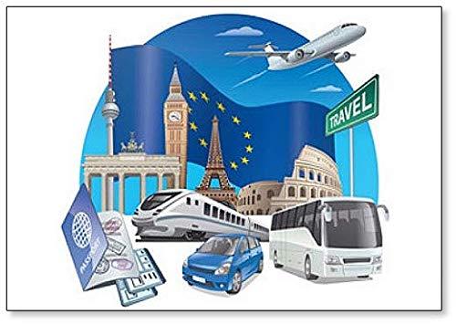 Travel In Europe Classic koelkastmagneet