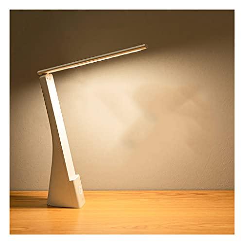 XWDQ único Lámpara de mesita de Noche Simple, Plegable Blanco Lámpara de Mesa Recargable de protección Ocular, para el Estudio de la Familia para el Dormitorio Familiar. estudiar (Color : White)