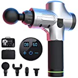 Muscle Massage Gun, Handheld Deep Tissue Muscle Relief Massager, Portable Personal Massage Gun for Exercising Pain Relief, 20 Speeds Optional Modes with 4 Heads, Featuring Quiet Glide Technology