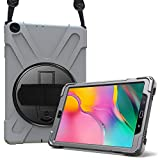 ProCase Galaxy Tab A 10.1 2019 Case T510 T515 T517, Rugged Heavy Duty Shockproof Rotating Kickstand Protective Cover Case for 10.1 Inch Galaxy Tab A Tablet SM-T510 SM-T515 SM-T517 2019 Release –Grey