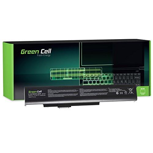 Green Cell Akku für Fujitsu LifeBook N532 N532/E NH532 Gigabyte Q2532N Medion Akoya E6201 E6221 E6222 E6227 E6228 E6234 E7201 E7219 E7220 E7221 Laptop (4400mAh 10.8V Schwarz)