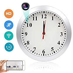 Wireless Hidden Camera Clock XDMYWH 1080P WiFi Hidden Camera Wall Clock Spy Camera Nanny Camera for Home Security with Motion Detection Loop Recording