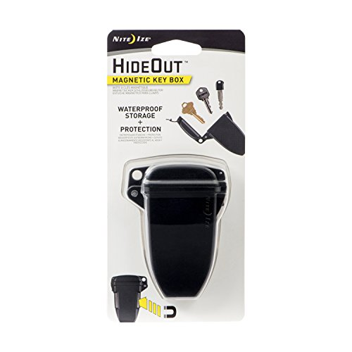 Nite Ize KBS-01-R7 Hideout, Waterproof Magnetic Key Hider Attaches Non Metal Surfaces, Original, Black