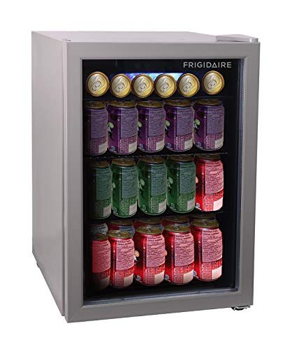 FRIGIDAIRE EFMIS9000-AMZ Freestanding Beverage Center Fridge-Fits 25 Bottles OR 60 Cans, Black