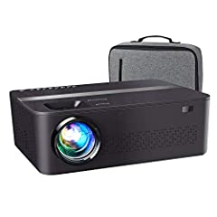 【Native 1080P HD Projector and High Brightness】It comes with 7200 lumens and has a hign dynamic contrast ratio of 10000:1,Providing sharp and detailed images from HD content without downscaling or compressing. In addition, native resolution 1920*1080...