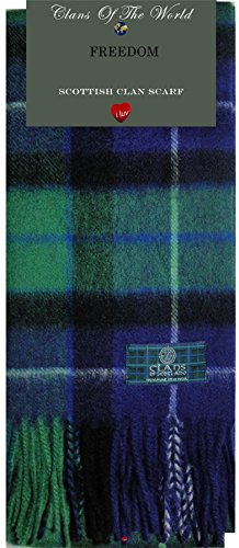 I Luv Ltd Freedom Tartan Clan Scarf 100% Soft Lambswool