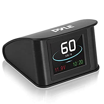 Universal Vehicle Smart HUD Display - 2.6  Digital Mini Car Dashboard Heads Up Windshield Speedometer Projector System w/ GPS Navigation Compass Displays Speed Distance Time and More - Pyle PHUD19