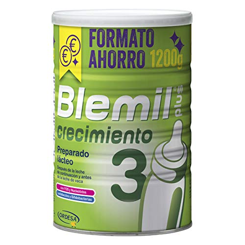 Blemil Plus - Crecimiento 3, Leche de Continuación, Preparado Lácteo, 1200 gr