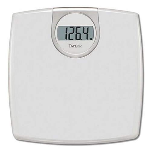 Taylor Precision Products Digital 1.2-Inch LCD Bathroom Scale (White)
