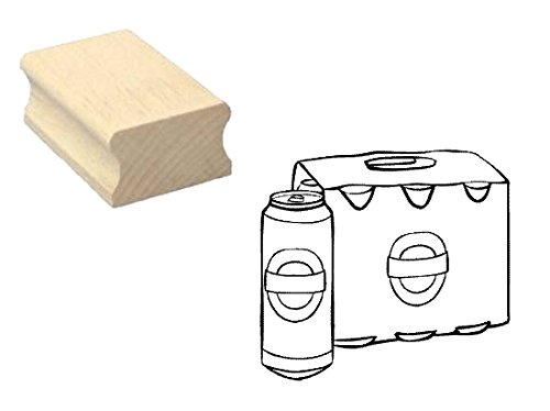 Stempel Holzstempel Motivstempel « SIXPACK BIER » Scrapbooking - Embossing