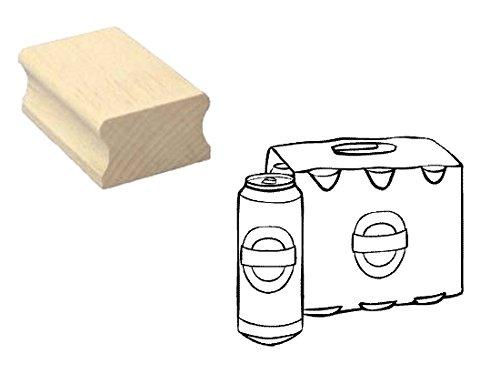 Stempel houten stempel motiefstempel « SIXPACK BIER » scrapbooking - embossing