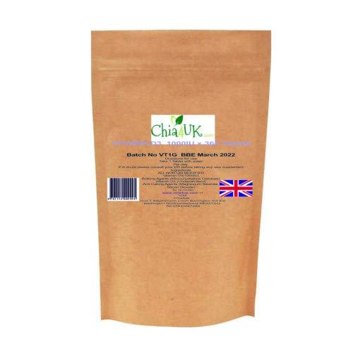 Vitamin D 1000IU Tablets | 365 Vitamin D3 Supplements | High Strength Immune Support - 25 Micrograms | (Not Spray, Drops or 4000 IU Capsules) | Vegetarian, Vegan & Gluten Free VIT D - UK Made