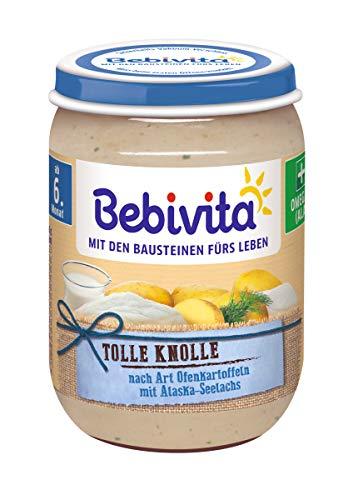 Bebivita Menüs ab 6. Monat, Tolle Knolle - Nach Art Ofenkartoffeln mit Seelachs, 6er Pack (6 x 190 g)