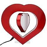 Garosa Amour Cœur Rouge Magnétique Lévitation Cadre de Photo Anti La gravité Flottant Photo Cadre avec LED Lumières Suspendu dans l'air Flottant Bureau à Domicile Décoration de Mariage(EU)