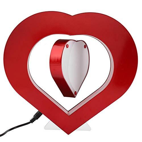 Magnetische fotolijst, LED rood hartvormige magnetische levitatie fotolijst Home Office bruiloft decoratie beste cadeau (EU)