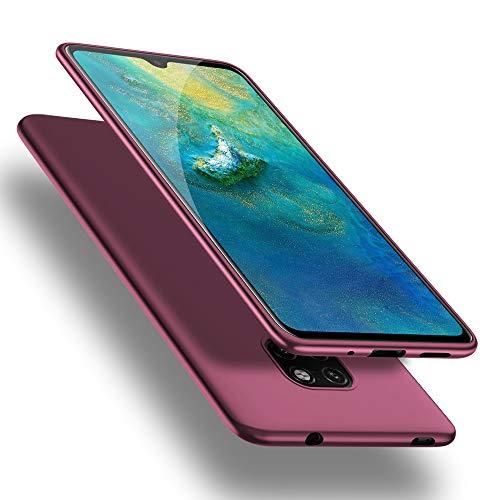 X-level Cover Huawei Mate 20, [Guardian Series] Ultra Sottile e Morbido TPU Protettiva Custodia Silicone Rubber Protezione Cover per Huawei Mate 20, Vino Rosso