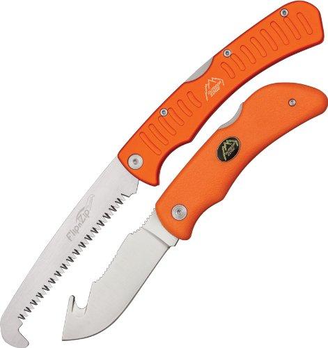 Outdoor Edge Grip Hook Set messen + zaag unisex volwassenen, oranje/grijs, 112 mm