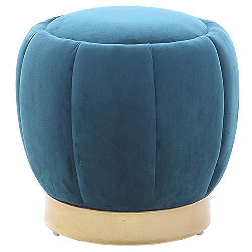 FTFTO Productos para el hogar Taburete pequeño Paño Cambio de Mesa Banco de Zapatos Moda Taburete multifunción Sofá Taburete Banco de Madera Asiento otomano (Color: Azul)
