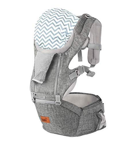 Bable Baby Carrier with Hip Seat, 6-in-1 Convertible Carrier for Newborn to Toddler (8-33lbs), Ergonomic Baby Carrier Backpack, Front Back Baby Carrier with Cool MESH for All Seasons (Flaxen)