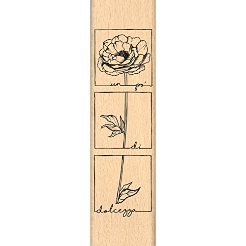 10/x 7/x 2,5/cm Floril/èges Design Timbro cerbiatto Coronato Legno Colore Legno