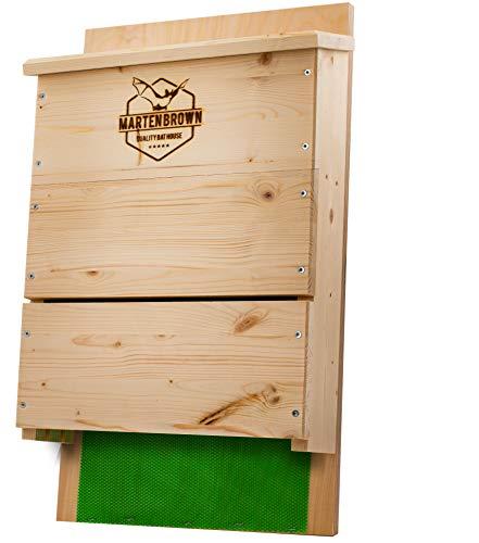 Martenbrown® Scatola da Pipistrello Premium a Tre camere Bat House Scatola di nidificazione Scatola di nidificazione dei Pipistrelli Scatole di Pipistrello + 200g Esca di Pipistrello