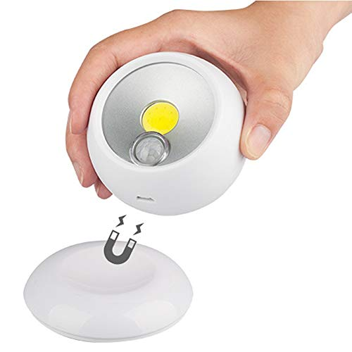 Noche Infantil PIR Sensor DE Movimiento MAGNÉTICA Noche Luz Batería Desarrollada/USB Recargable Rotación de 360 Grados Lámpara de Pared de la lámpara de Calle para Las escaleras del Dormitorio Arm
